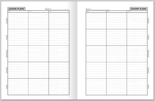 Lesson Plan Book Template Printable Best S Of Weekly Lesson Plan Book Template Free