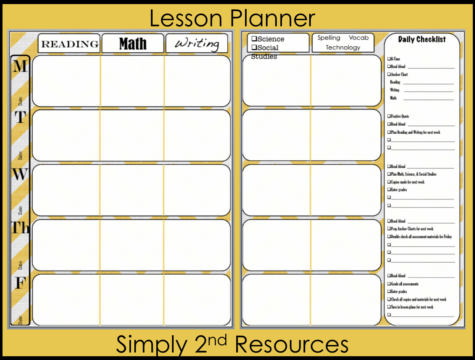 Lesson Plan Book Template Printable Lesson Plan Book Template Printable