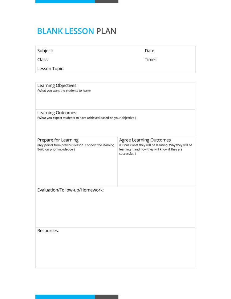 Lesson Plan Template Doc 14 Free Daily Lesson Plan Templates for Teachers