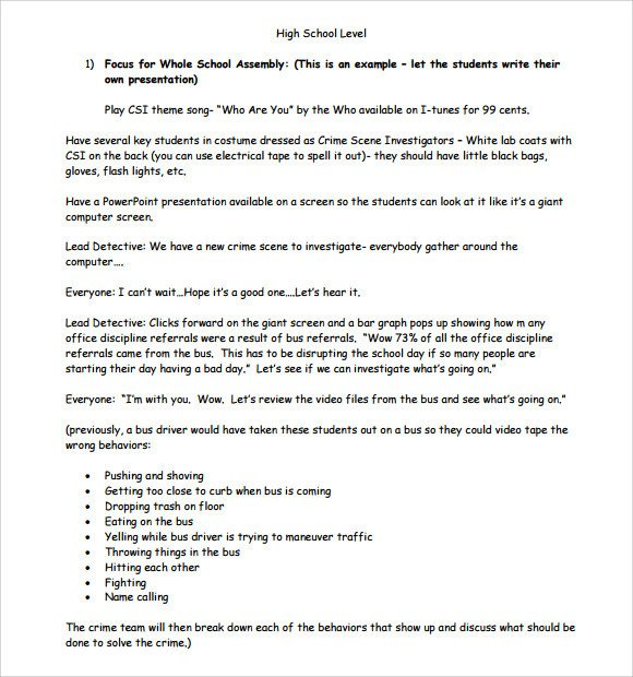 Lesson Plan Template High School Sample High School Lesson Plan 10 Documents In Pdf Word