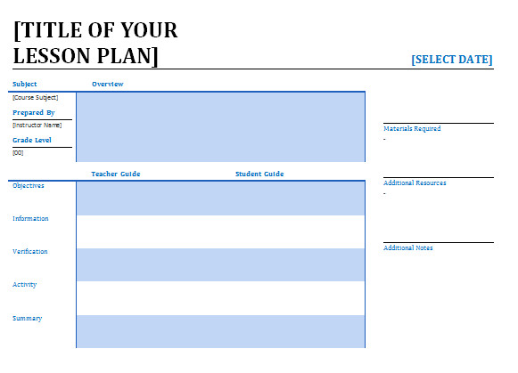 Lesson Plan Template Word Lesson Plan Template Word Editable Free Download