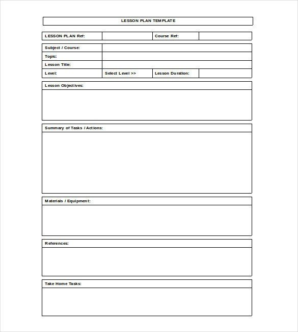 Lesson Plan Templates Free Lesson Plan Template for Math High School – Pin by Joanna