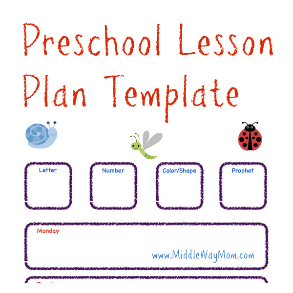 Lesson Plan Templates Preschool Preschool Lesson Plan Template