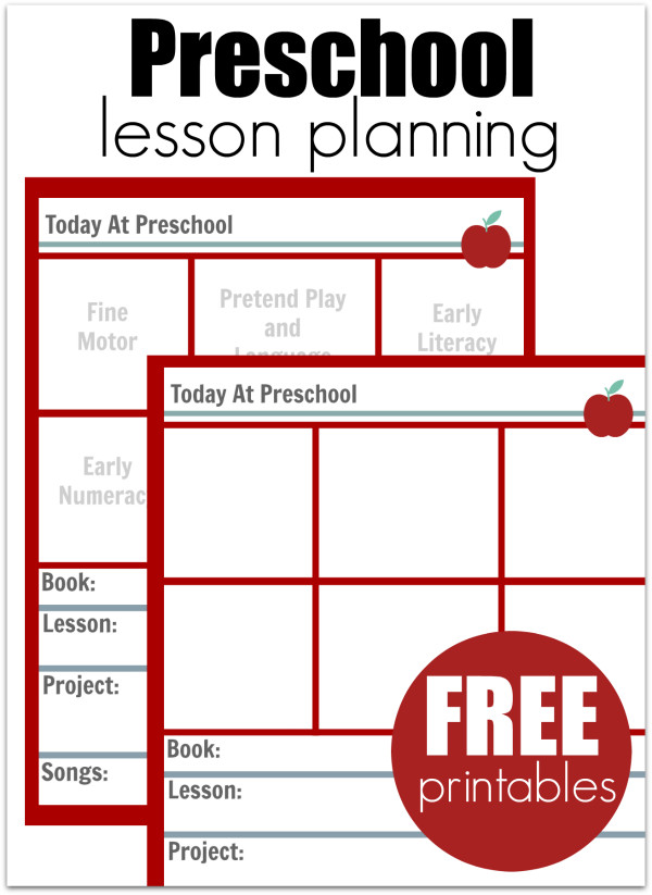 Lesson Plan Templates Preschool Preschool Lesson Planning Template Free Printables No