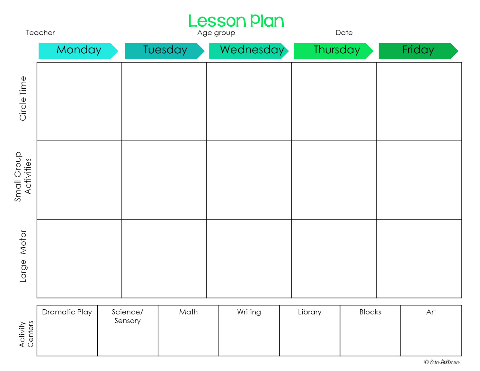 Lesson Plan Templates Preschool Preschool Ponderings Make Your Lesson Plans Work for You