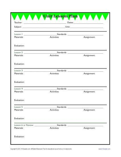 Lesson Plans Template Elementary Detailed Unit Lesson Plan Template Elementary Reading