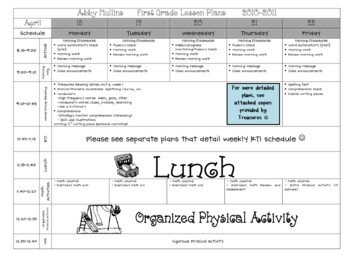 Lesson Plans Template Elementary Lesson Plan Template Pre K & Elementary by Babbling Abby