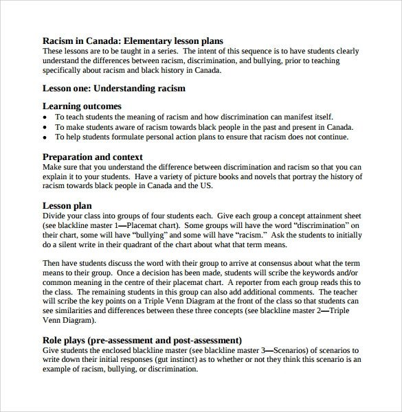 Lesson Plans Template Elementary Sample Elementary Lesson Plan 9 Documents In Pdf