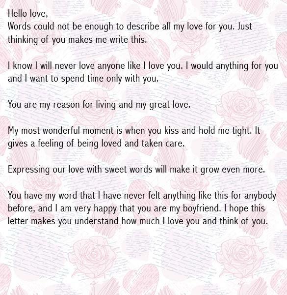 Letter for Your Boyfriend Love Letters for Boyfriend Romantic Love Letter for Him