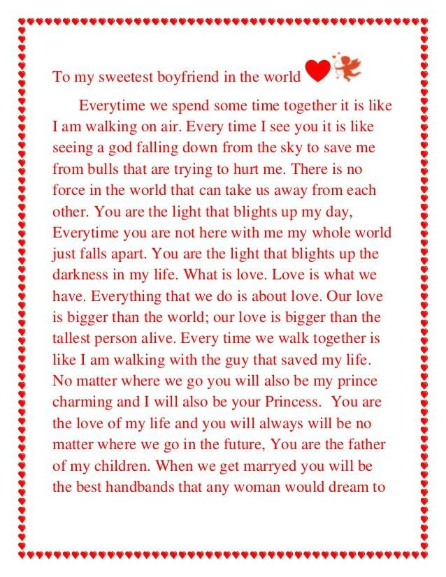 Letter for Your Boyfriend Love Letters to Your Boyfriend