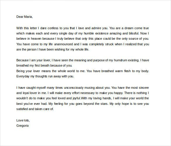 Letter for Your Girlfriend 9 Love Letters for Her Doc Pdf