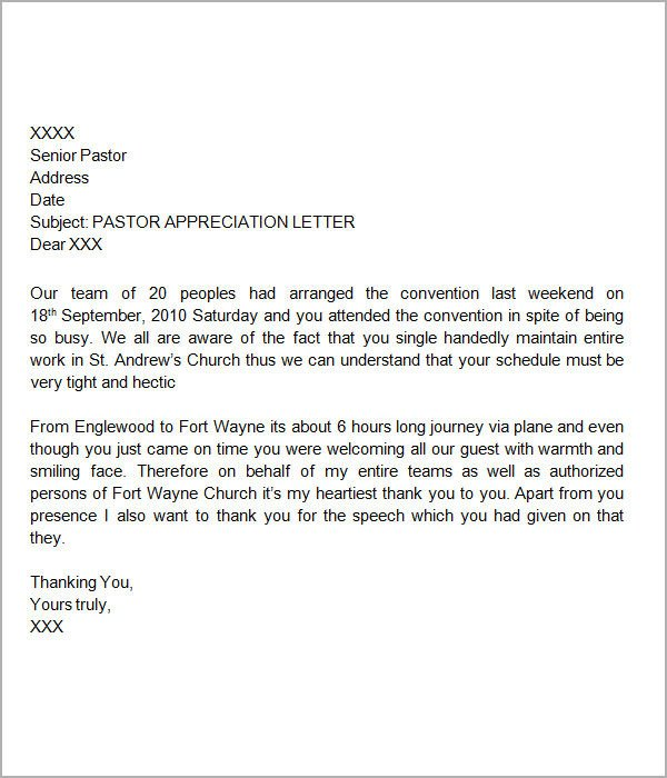 Letter Of Appreciation Templates 27 Sample Thank You Letters for Appreciation Pdf Word