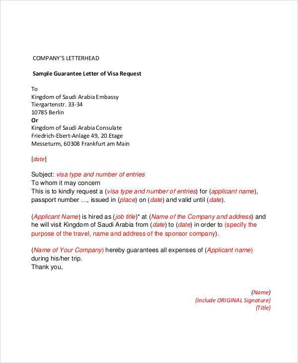 Letter Of Guarantee Sample 54 Guarantee Letter Samples Pdf Doc