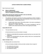 Letter Of Instructions Sample Instruction Template 40 Free Word Excel Pdf Documents