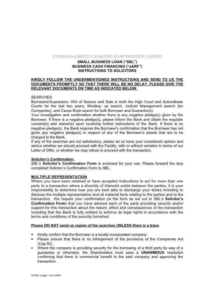 Letter Of Instructions Sample Letter Of Instruction for Business Cash Financing