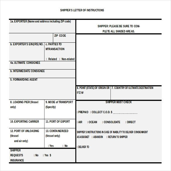 Letter Of Instructions Template 10 Free Instruction Templates Ms Word format Download