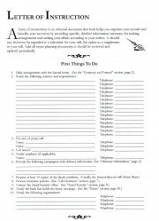 Letter Of Instructions Template Letter Of Instructions