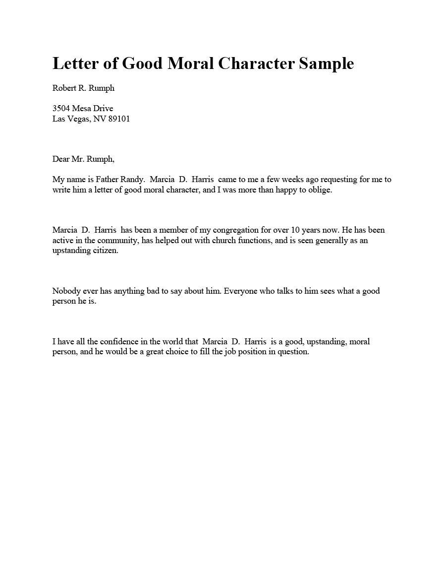 Letter Of Recommendation Immigration 36 Free Immigration Letters Character Reference Letters