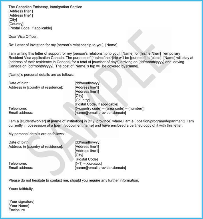 Letter Of Recommendation Immigration Immigration Reference Letters 6 Samples & Templates