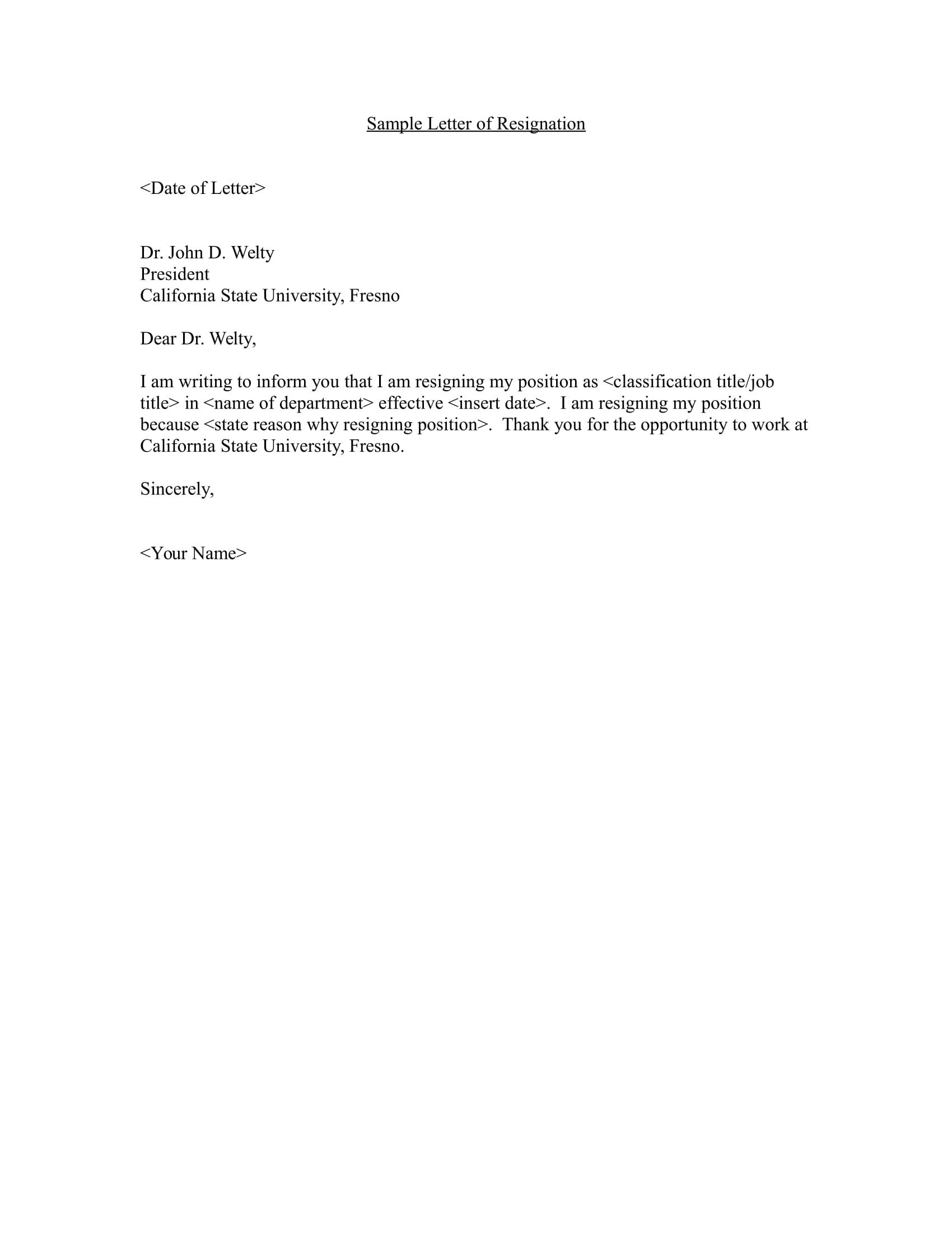Letter Of Resignation Template Word 12 Employee Resignation Letter Examples Pdf Word