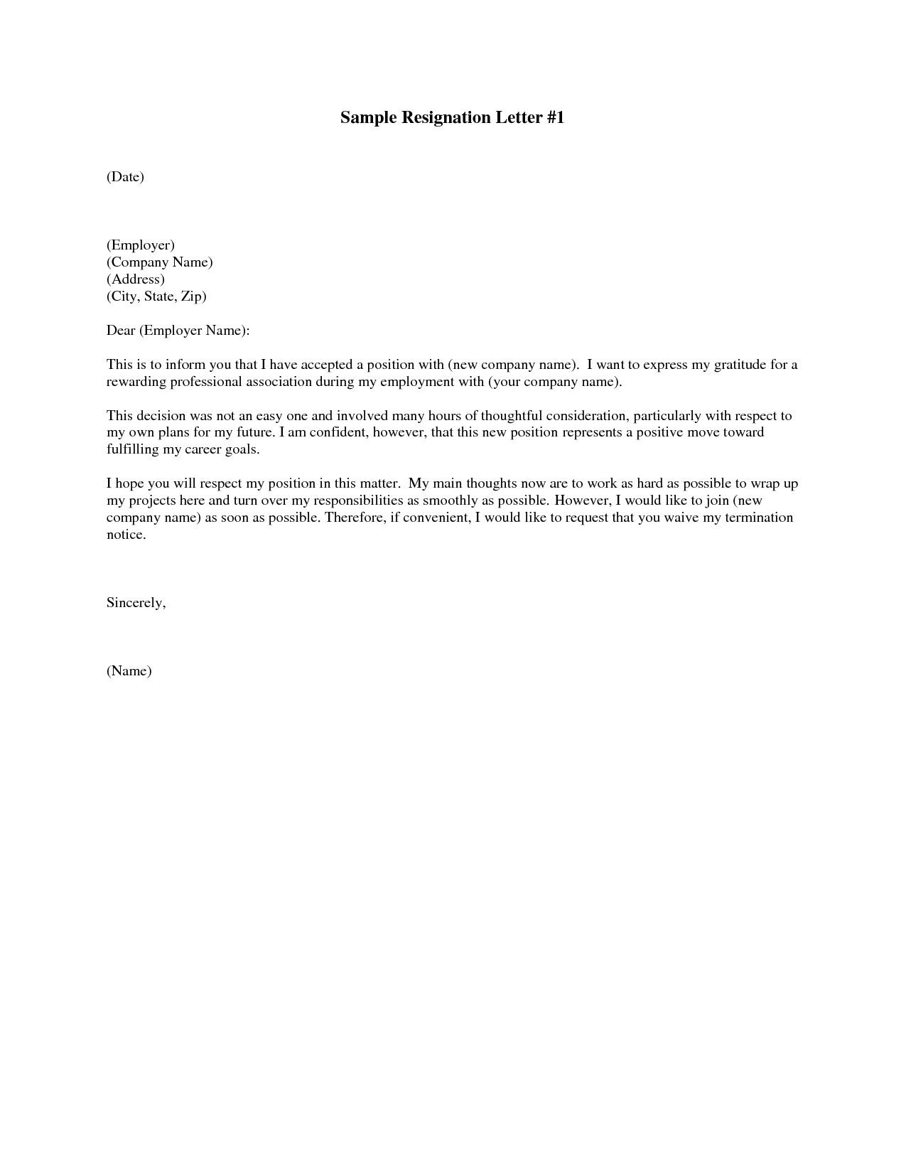 Letter Of Resignation Templates How to Write Easy Simple Resignation Letter Sample
