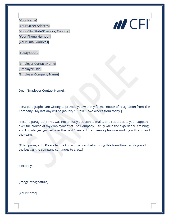 Letter Of Resignation Templates Word Resignation Letter How to Write A Letter Of Resignation