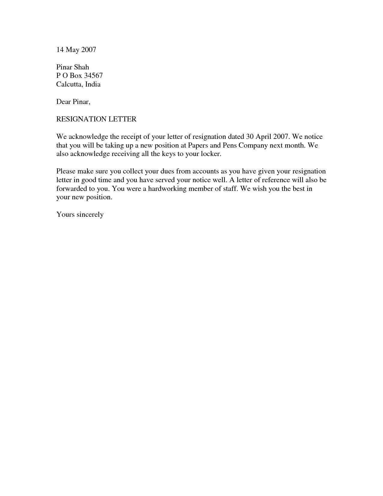 Letter Of Resignation Templates Word Resignation Letter Template
