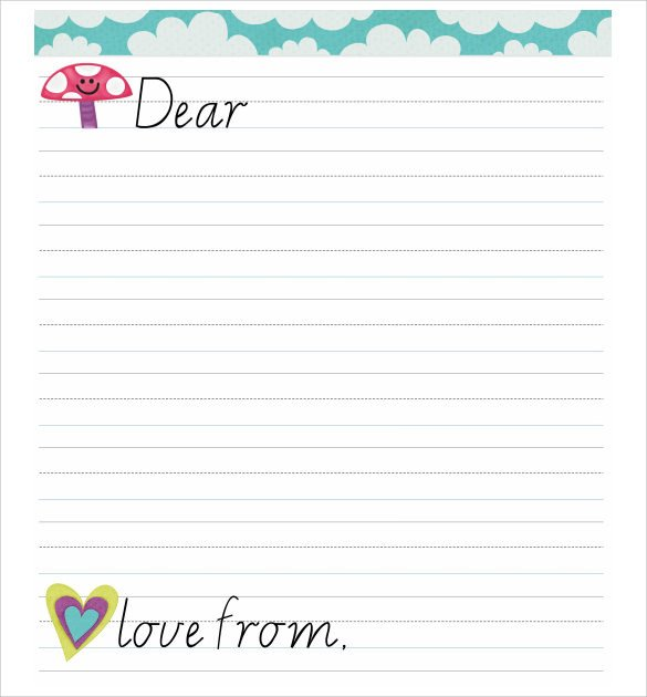 Letter Template for Kids 8 Letter format for Kids Samples Examples & format
