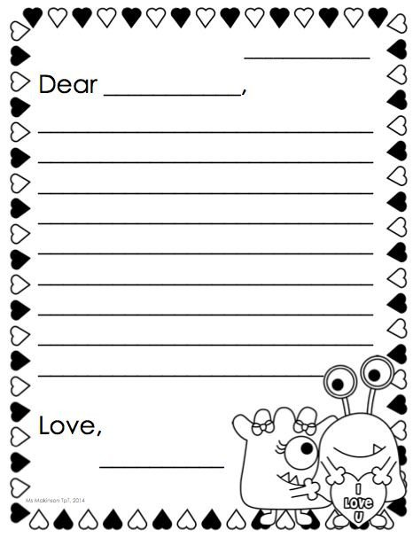 Letter Template for Kids Best 25 Friendly Letter Ideas On Pinterest