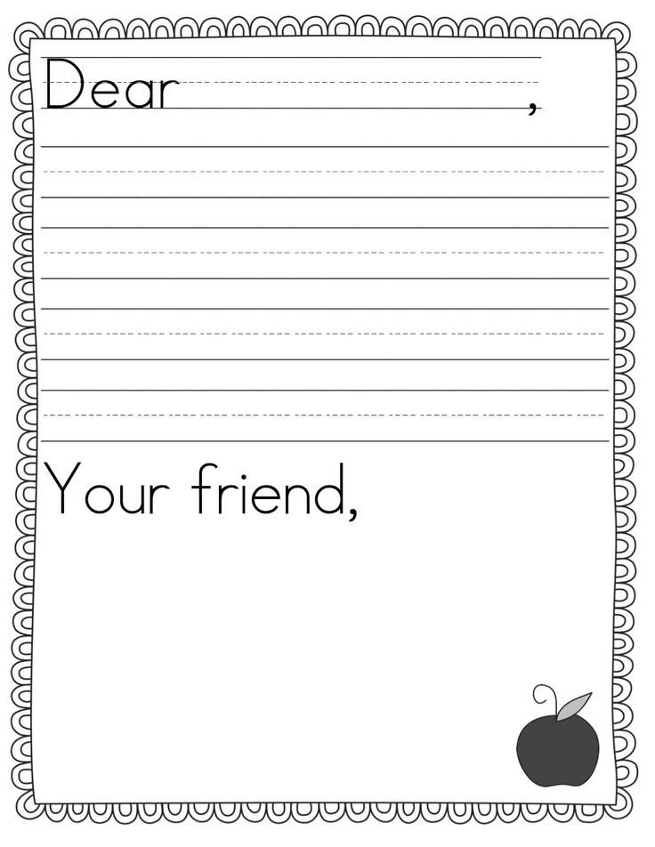 Letter Template for Kids Best 25 Letter Writing Template Ideas On Pinterest