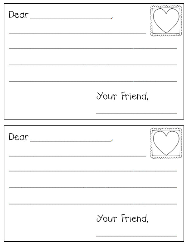 Letter Template for Kids Cute and Free Letter Template for Valentine S Day In