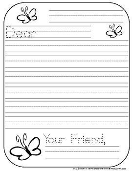 Letter Template for Kids Friendly Letter Writing for the Primary Classroom
