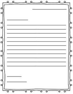 Letter Template for Kids Learning to Write Letters Templates Google Search
