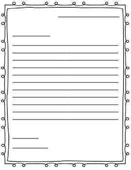 Letter Template for Kids Letter Writing Paper Friendly Letter