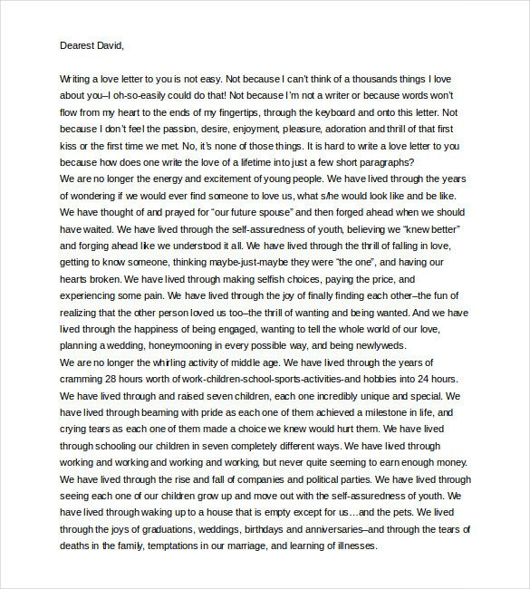 Letter to My Husband 11 Love Letter Templates to My Husband Doc