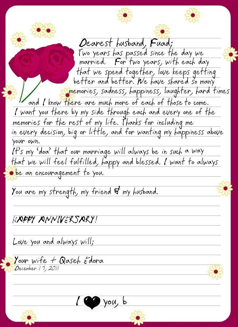 Letter to My Husband Mom & Wife A Love Letter to My Husband