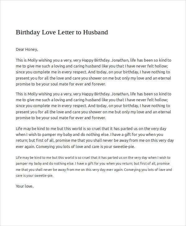Letter to My Husband Sample Love Letters to My Husband 7 Examples In Word Pdf