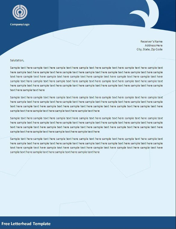 Letterhead Designs Free Templates 32 Word Letterhead Templates Free Samples Examples