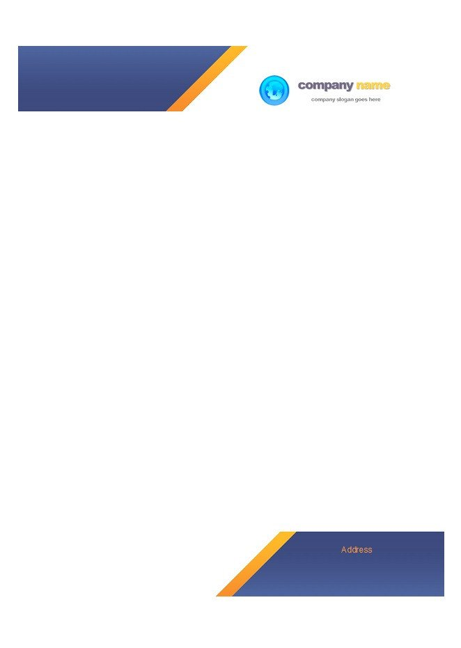 Letterhead Designs Free Templates 45 Free Letterhead Templates & Examples Pany