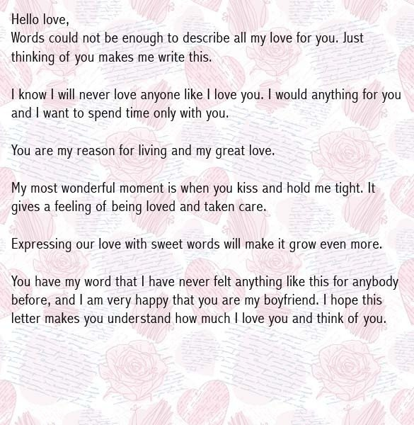 Letters for Your Boyfriend Love Letter to Boyfriend