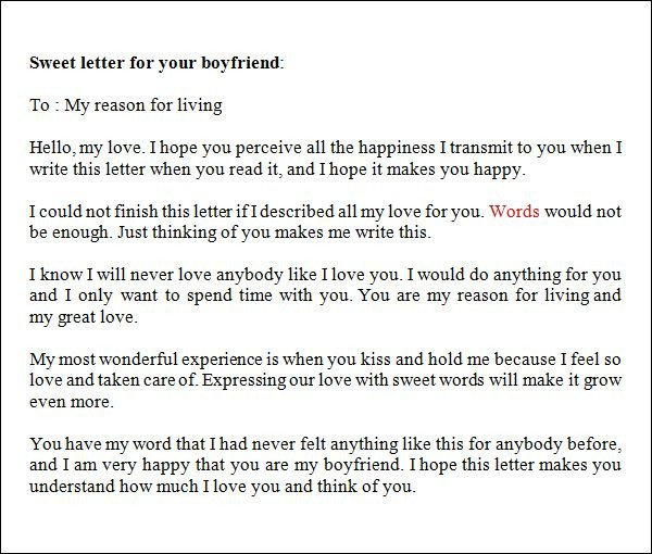 Letters for Your Boyfriend Love Letter to Your Boyfriend Places to Visit
