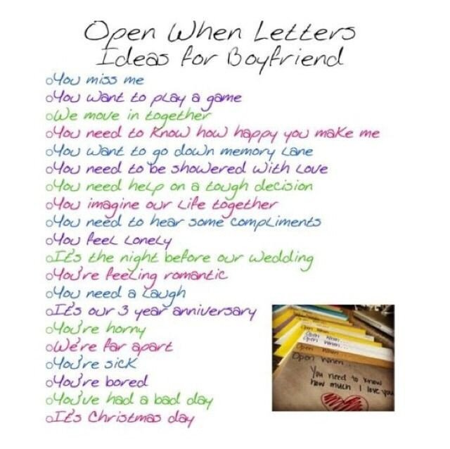 Letters for Your Boyfriend Make A Open when Letters for Your Boyfriend Girlfriend