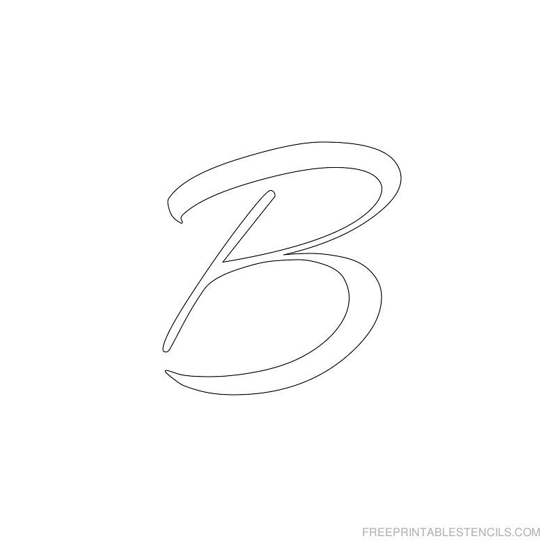 Letters Stencils to Print Airbrush Letter Alphabet Stencils to Print