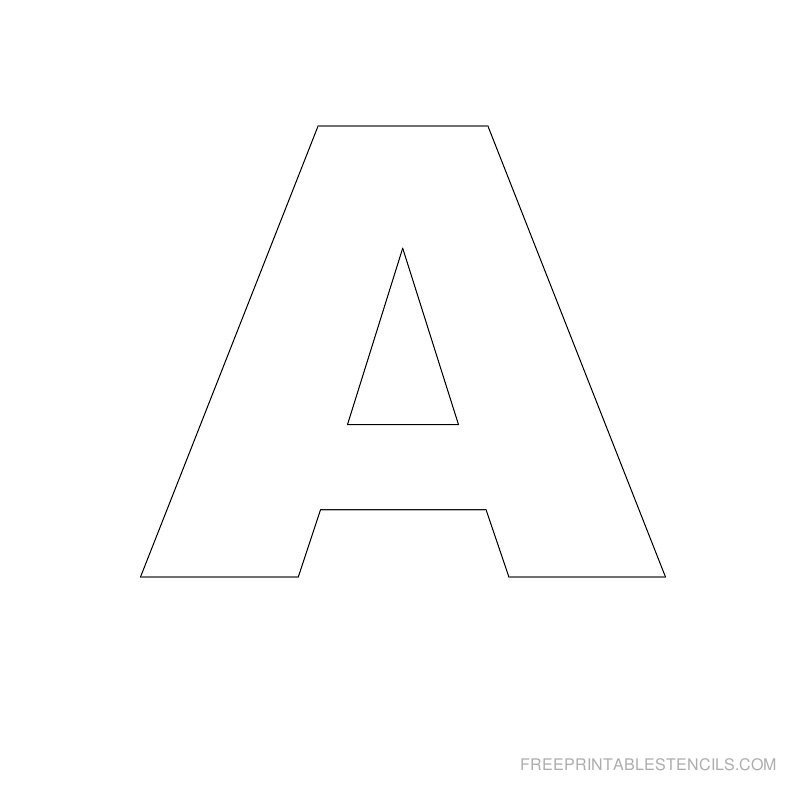 Letters Stencils to Print Big Letter Printable Stencils A to Z