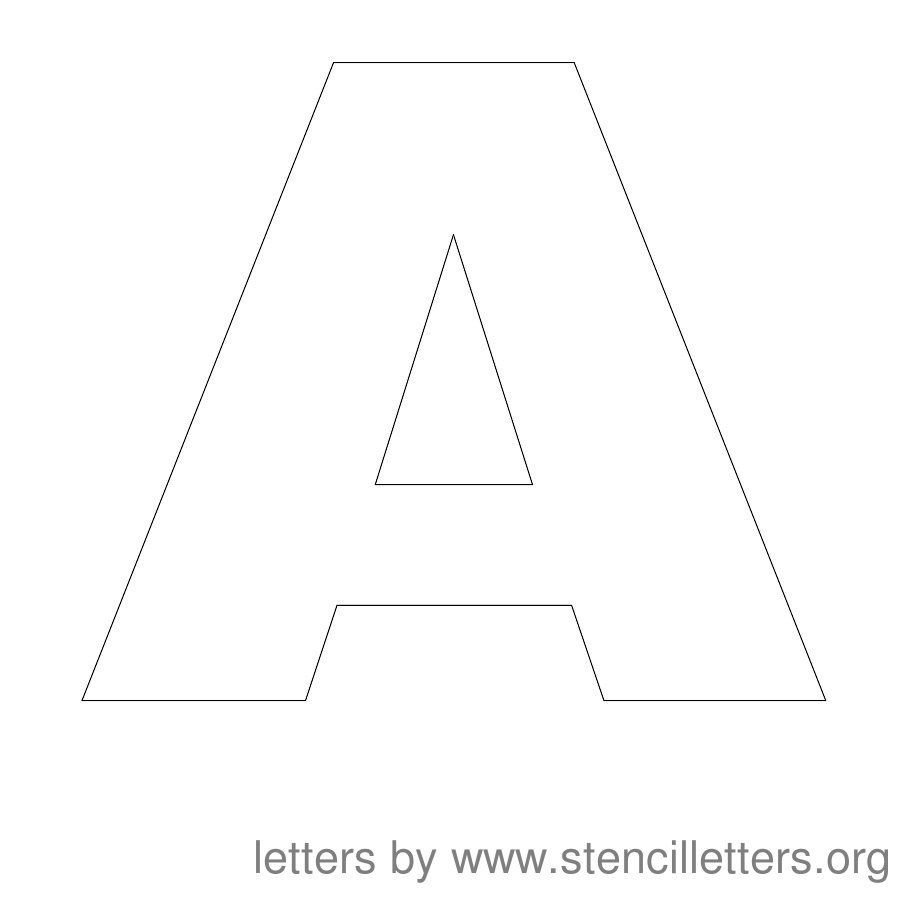 Letters Stencils to Print Free Printable Letter Stencils