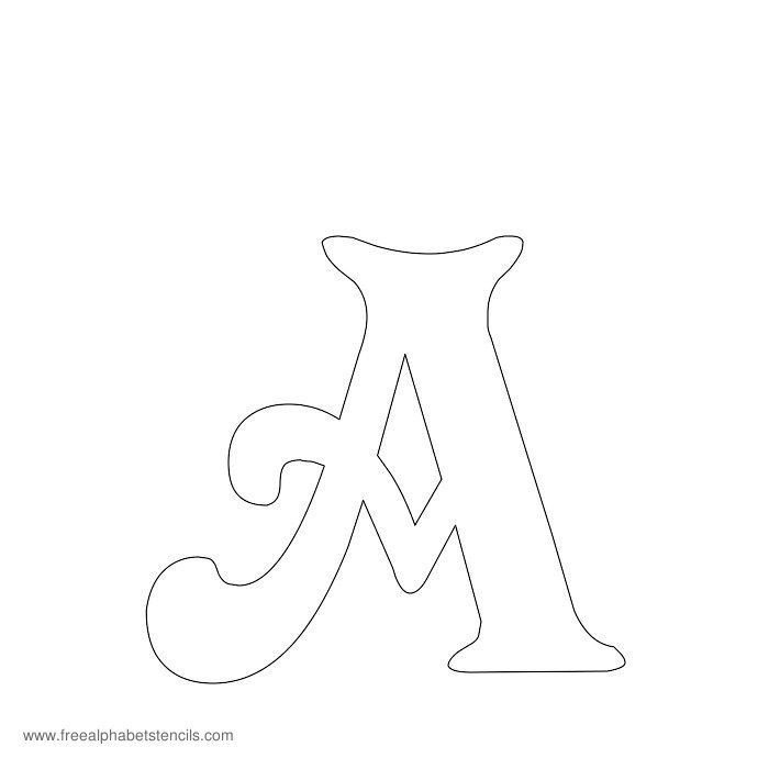 Letters Stencils to Print Free Printable Stencils for Alphabet Letters Numbers