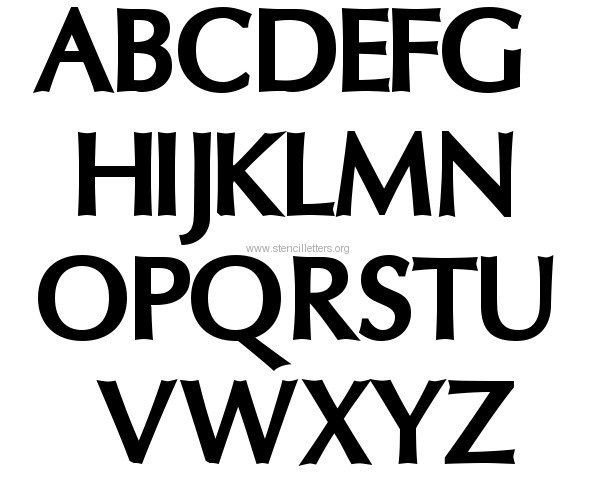 Letters Stencils to Print Letter Stencils Fun Free Printables