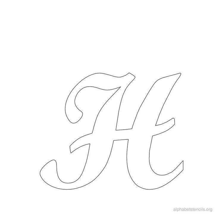 Letters Stencils to Print Print Free Alphabet Stencils Cursive H