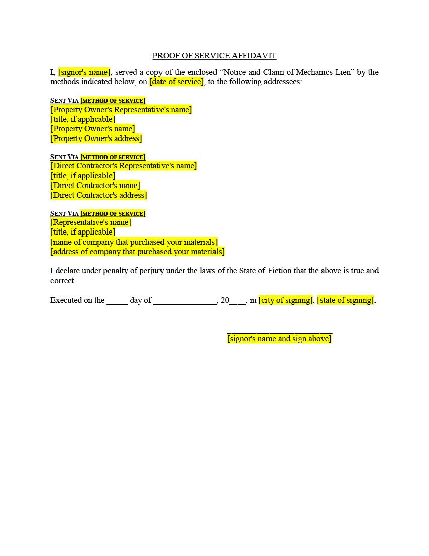 Lien Release Letter Template Filing & Release Of Lien forms