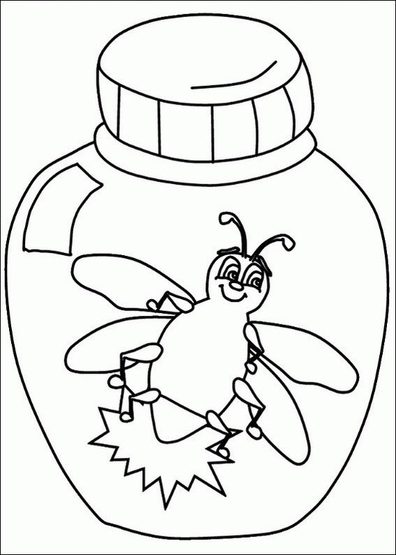 Lightning Bug Template L is for Lightning Bug [coloring Page]